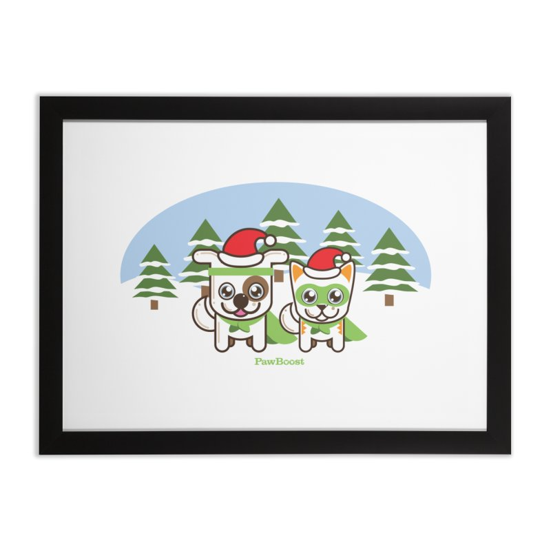 Toby & Moby (winter wonderland) Home Framed Fine Art Print by PawBoost's Shop
