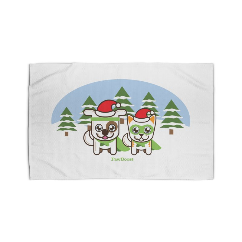 Toby & Moby (winter wonderland) Home Rug by PawBoost's Shop