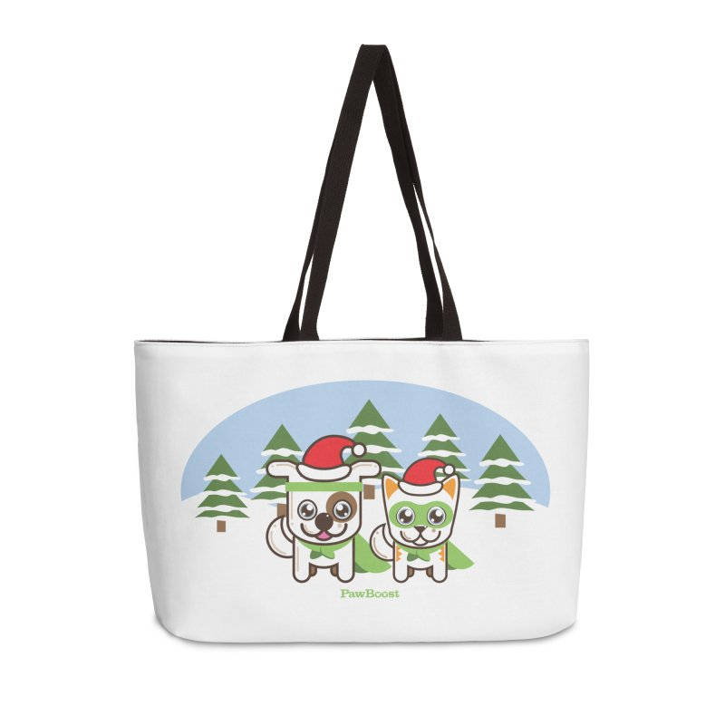 Toby & Moby (winter wonderland) Accessories Weekender Bag Bag by PawBoost's Shop