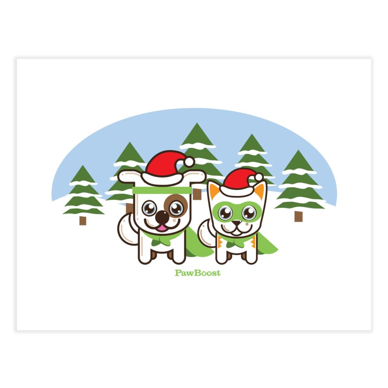 Toby & Moby (winter wonderland) Home Fine Art Print by PawBoost's Shop