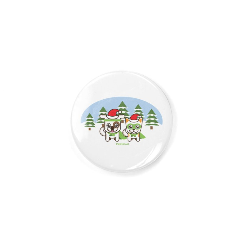Toby & Moby (winter wonderland) Accessories Button by PawBoost's Shop