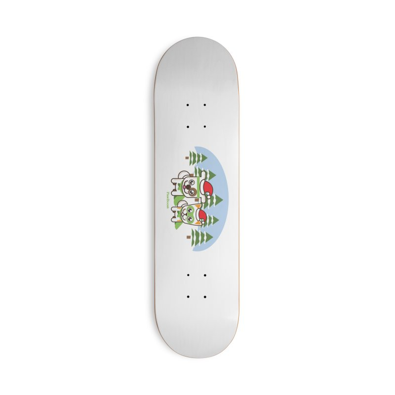 Toby & Moby (winter wonderland) Accessories Deck Only Skateboard by PawBoost's Shop