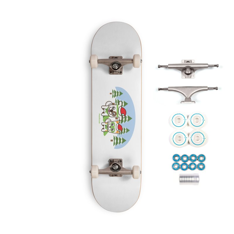 Toby & Moby (winter wonderland) Accessories Complete - Basic Skateboard by PawBoost's Shop