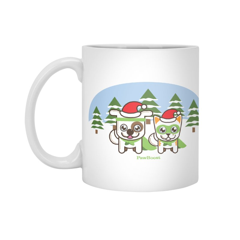 Toby & Moby (winter wonderland) Accessories Mug by PawBoost's Shop
