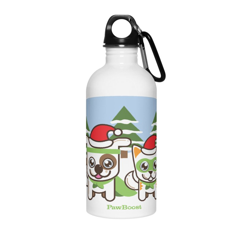 Toby & Moby (winter wonderland) Accessories Water Bottle by PawBoost's Shop
