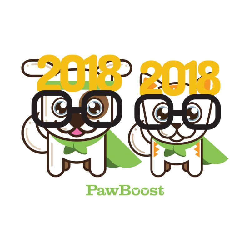 Hello 2018! Kids Baby Zip-Up Hoody by PawBoost's Shop