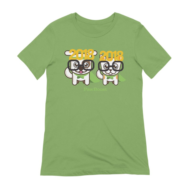 Hello 2018! Women's Extra Soft T-Shirt by PawBoost's Shop