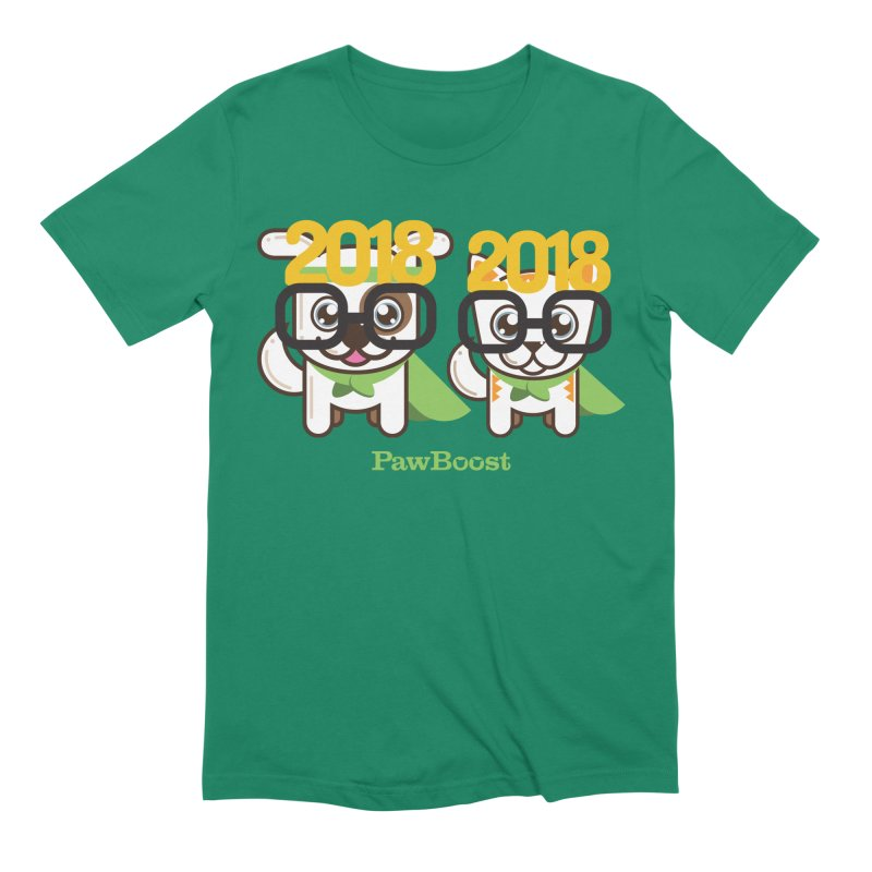 Hello 2018! Men's Extra Soft T-Shirt by PawBoost's Shop