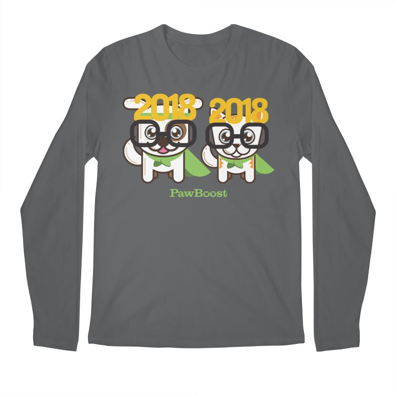 Hello 2018! Men's Longsleeve T-Shirt by PawBoost's Shop