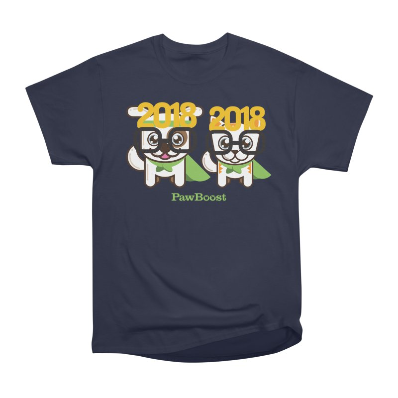 Hello 2018! Women's Heavyweight Unisex T-Shirt by PawBoost's Shop