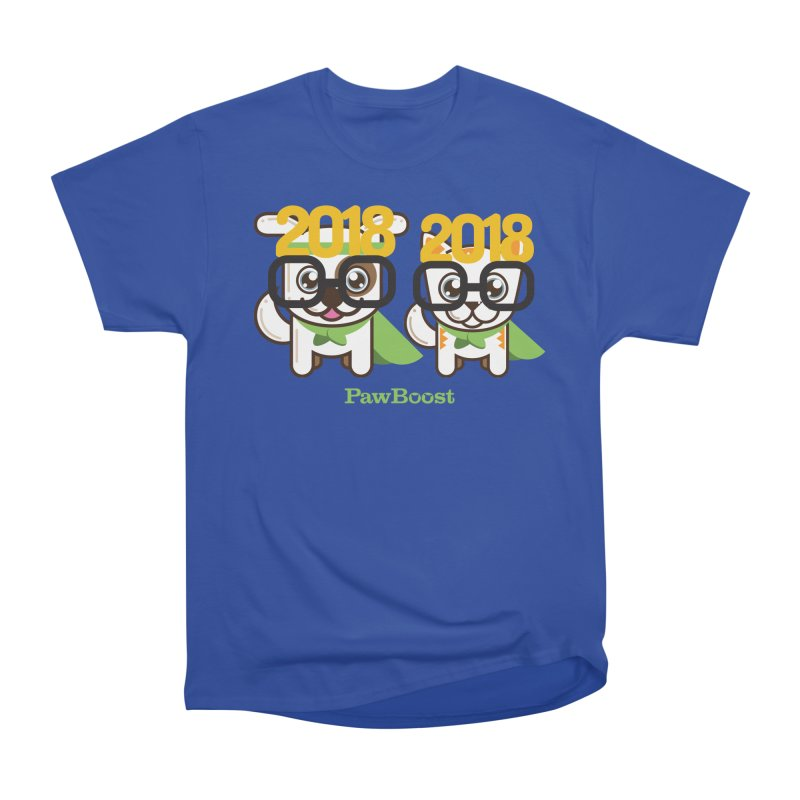 Hello 2018! Men's Heavyweight T-Shirt by PawBoost's Shop