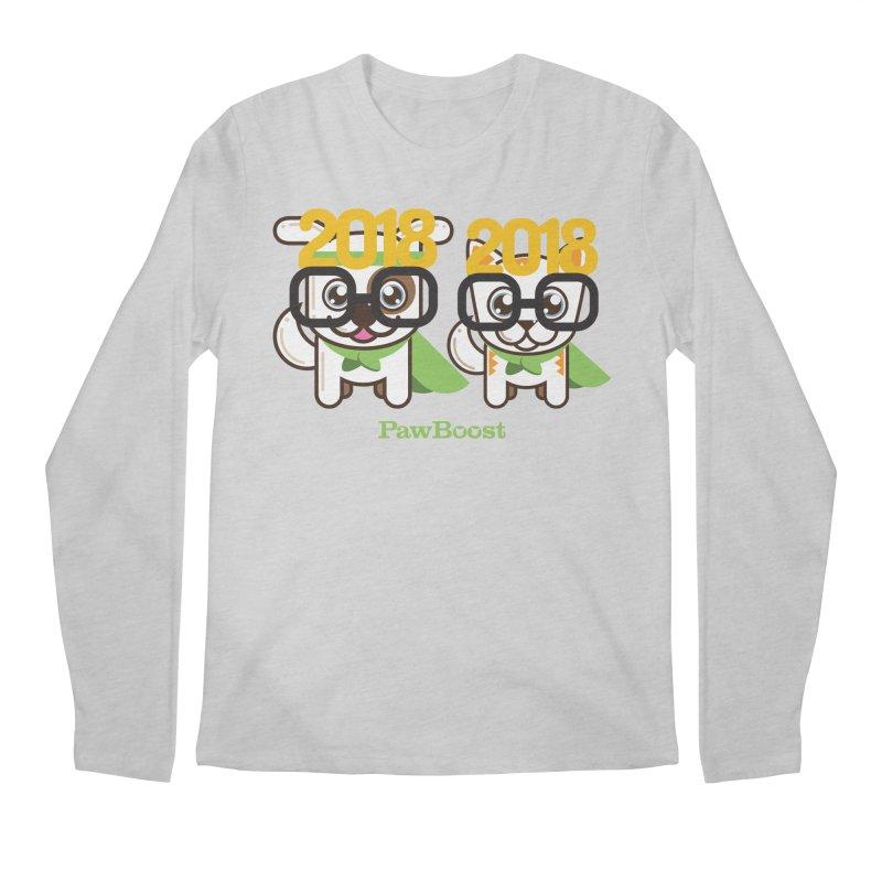 Hello 2018! Men's Regular Longsleeve T-Shirt by PawBoost's Shop