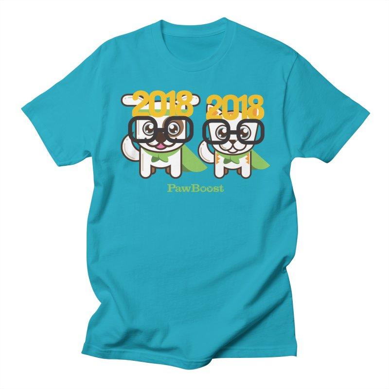 Hello 2018! Men's Regular T-Shirt by PawBoost's Shop