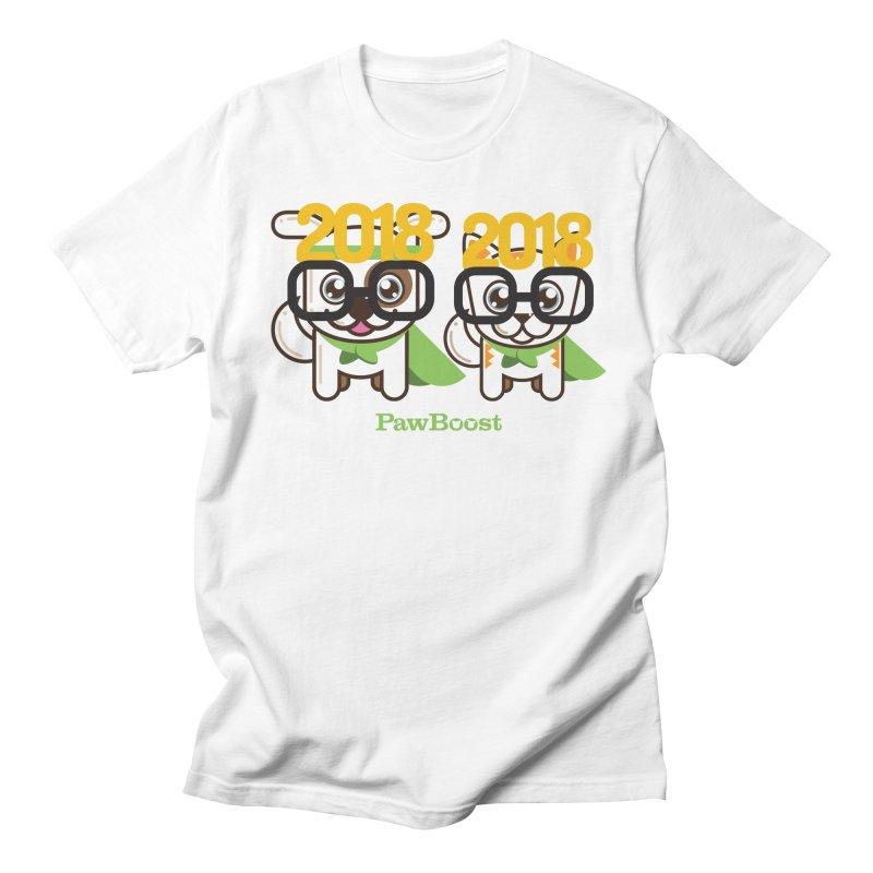 Hello 2018! Women's Regular Unisex T-Shirt by PawBoost's Shop
