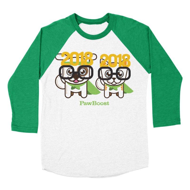 Hello 2018! Women's Baseball Triblend Longsleeve T-Shirt by PawBoost's Shop