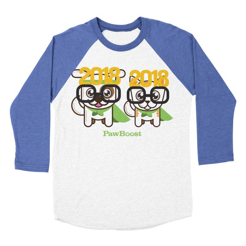 Hello 2018! Men's Baseball Triblend Longsleeve T-Shirt by PawBoost's Shop