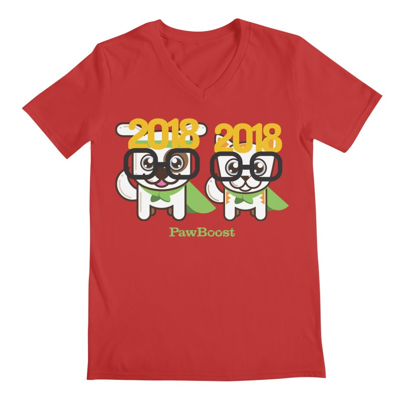 Hello 2018! Men's Regular V-Neck by PawBoost's Shop