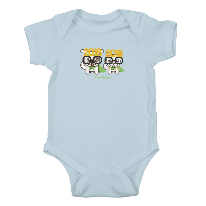 Hello 2018! Kids Baby Bodysuit by PawBoost's Shop