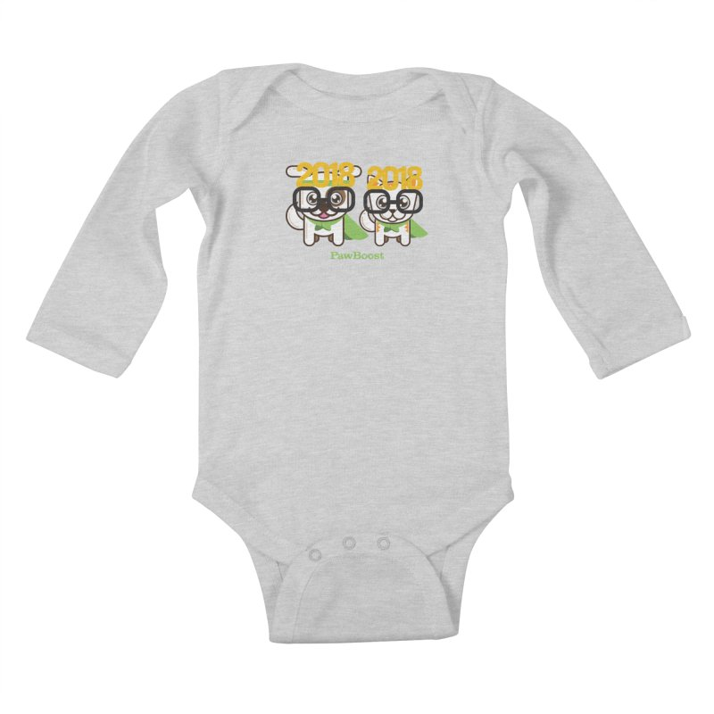 Hello 2018! Kids Baby Longsleeve Bodysuit by PawBoost's Shop