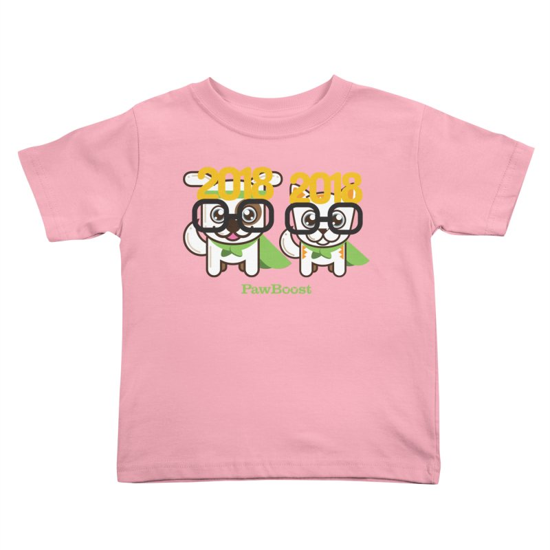 Hello 2018! Kids Toddler T-Shirt by PawBoost's Shop