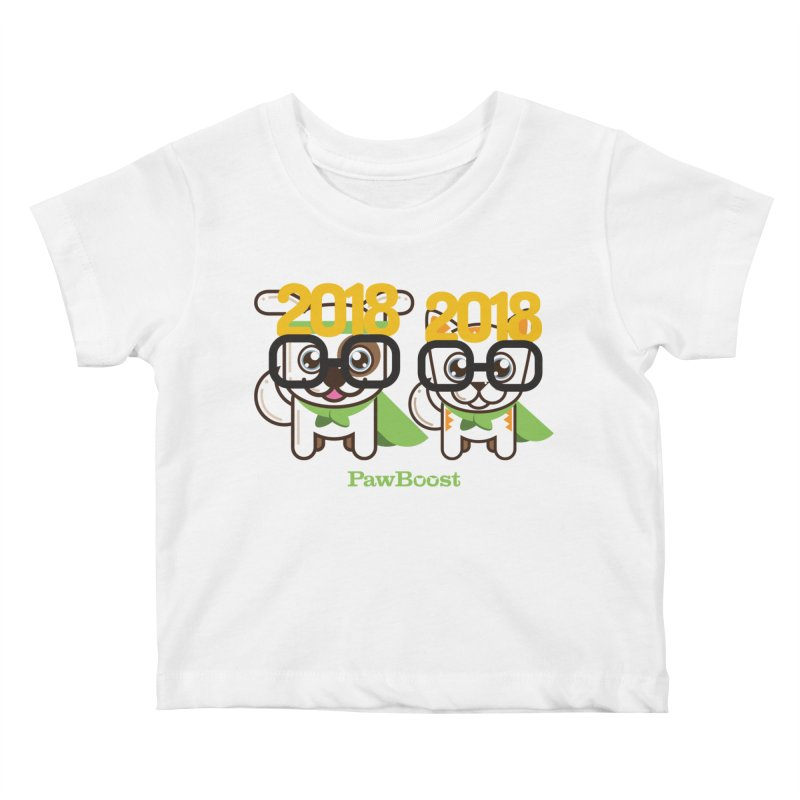 Hello 2018! Kids Baby T-Shirt by PawBoost's Shop