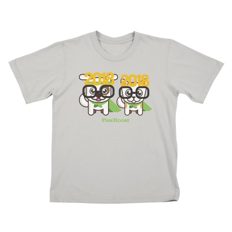 Hello 2018! Kids T-Shirt by PawBoost's Shop