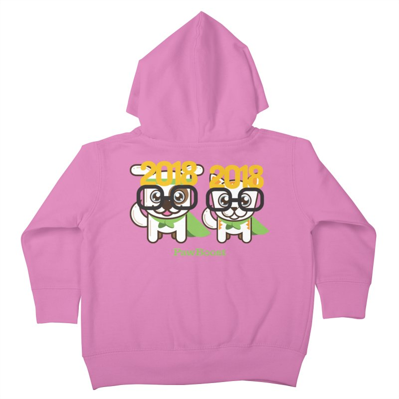 Hello 2018! Kids Toddler Zip-Up Hoody by PawBoost's Shop