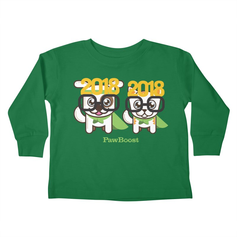 Hello 2018! Kids Toddler Longsleeve T-Shirt by PawBoost's Shop