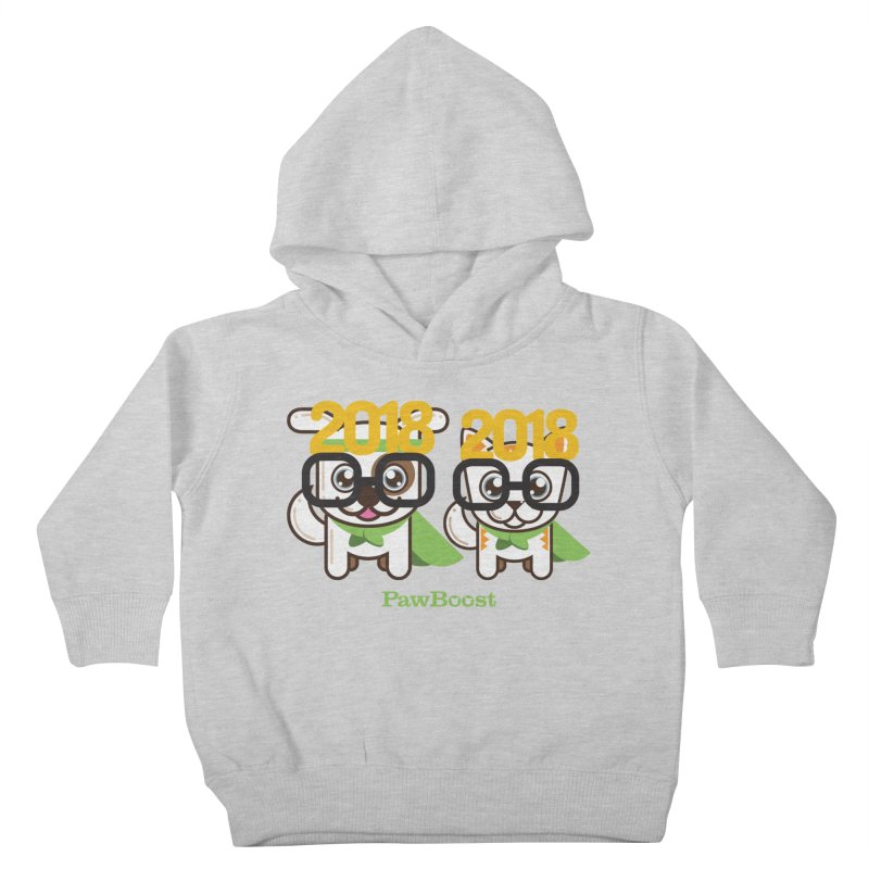 Hello 2018! Kids Toddler Pullover Hoody by PawBoost's Shop