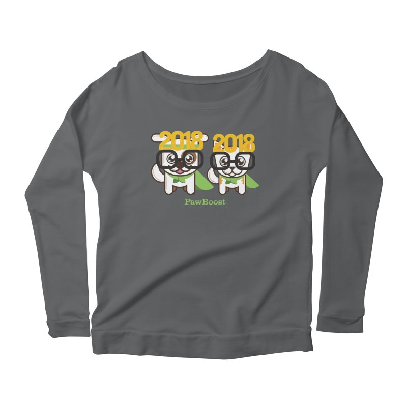 Hello 2018! Women's Scoop Neck Longsleeve T-Shirt by PawBoost's Shop