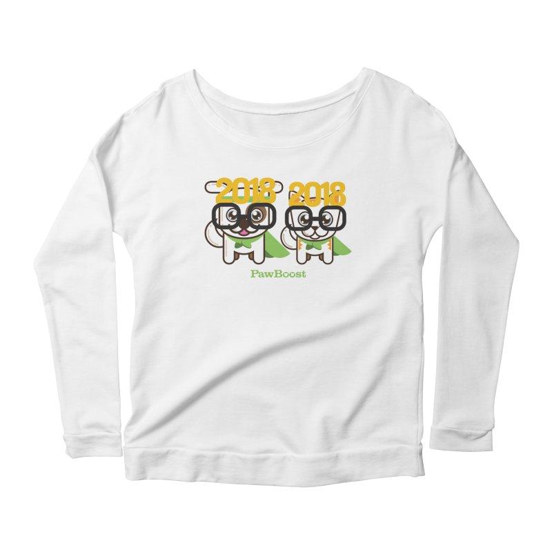 Hello 2018! Women's Scoop Neck Longsleeve T-Shirt by PawBoost's Shop