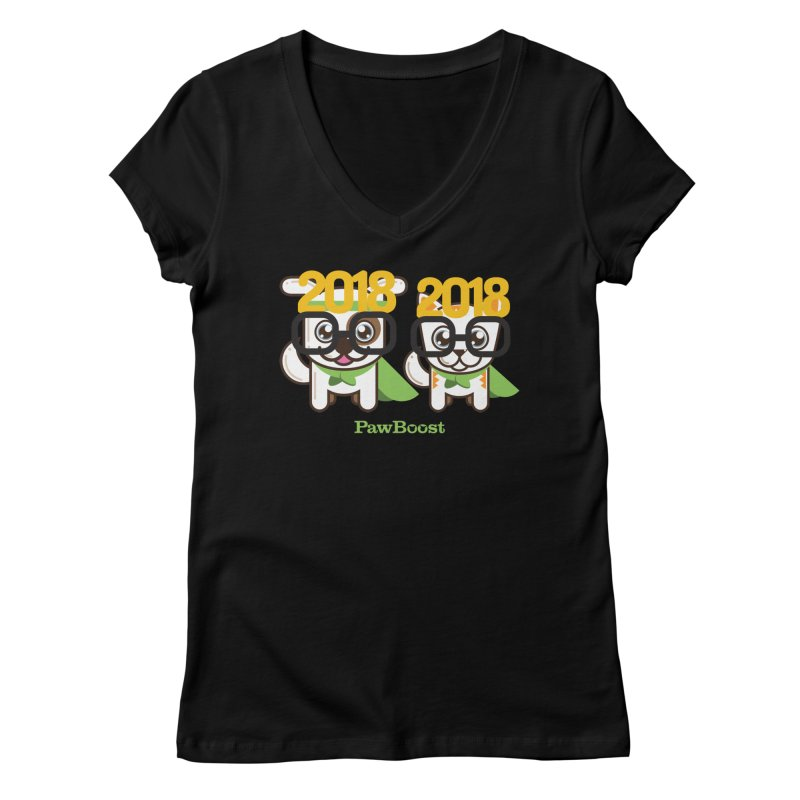 Hello 2018! Women's Regular V-Neck by PawBoost's Shop