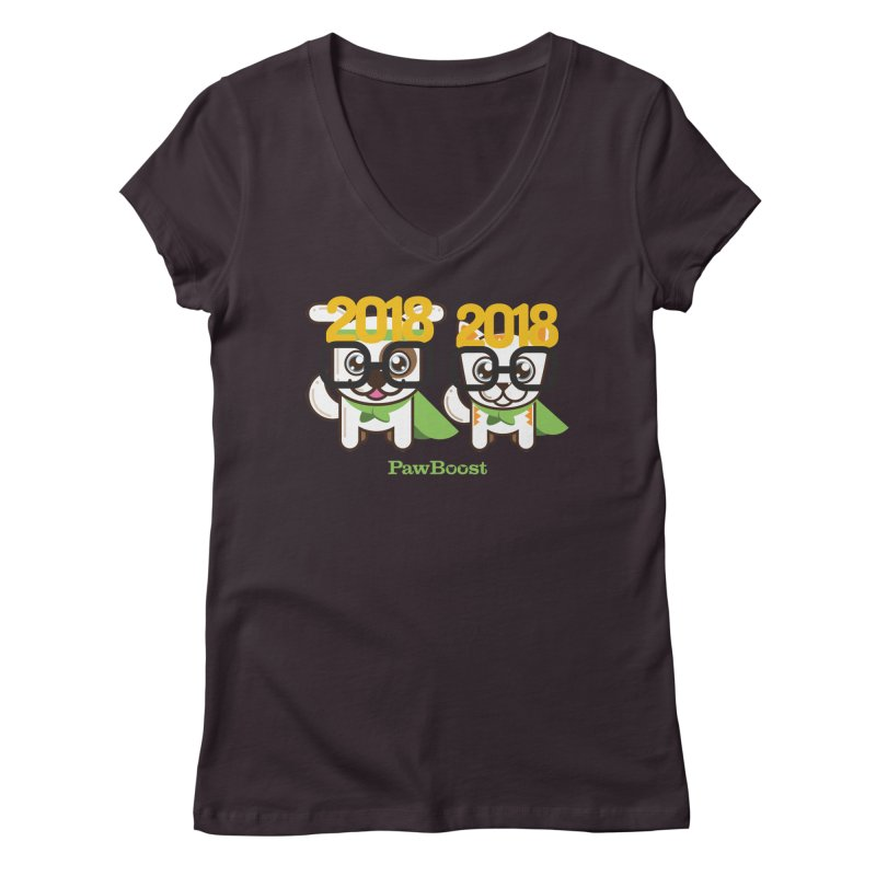 Hello 2018! Women's V-Neck by PawBoost's Shop