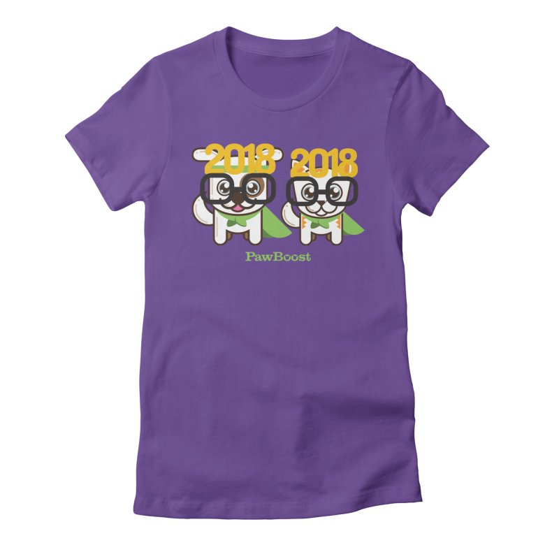 Hello 2018! Women's Fitted T-Shirt by PawBoost's Shop