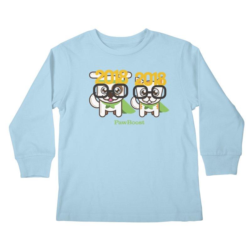 Hello 2018! Kids Longsleeve T-Shirt by PawBoost's Shop