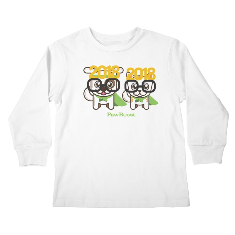 Hello 2018! Kids Longsleeve T-Shirt by PawBoost's Shop