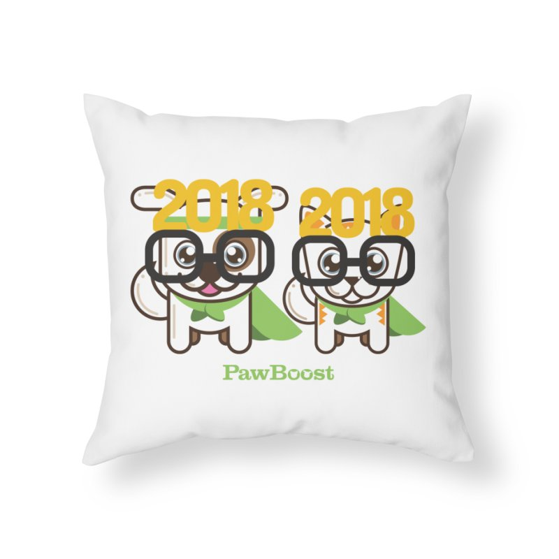 Hello 2018! Home Throw Pillow by PawBoost's Shop