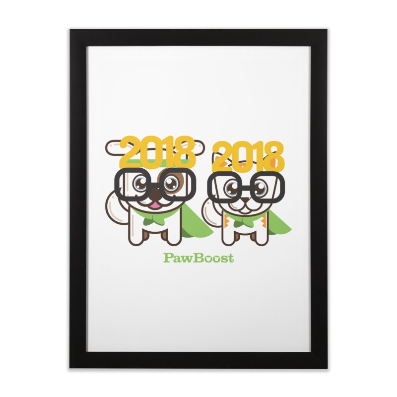 Hello 2018! Home Framed Fine Art Print by PawBoost's Shop