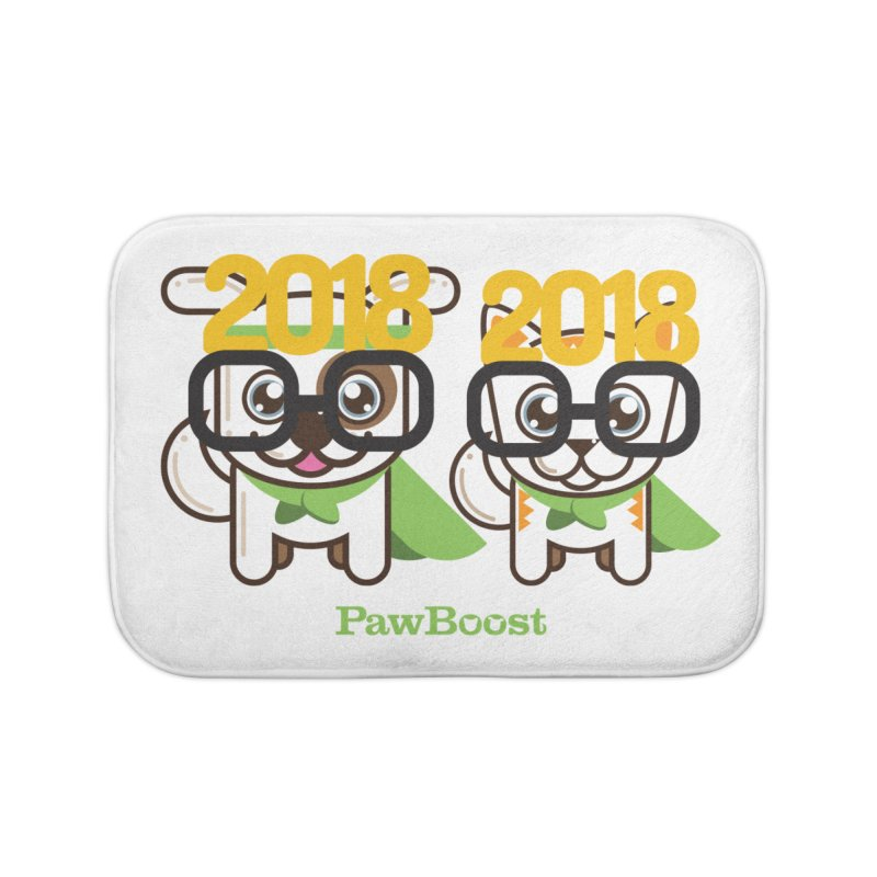 Hello 2018! Home Bath Mat by PawBoost's Shop