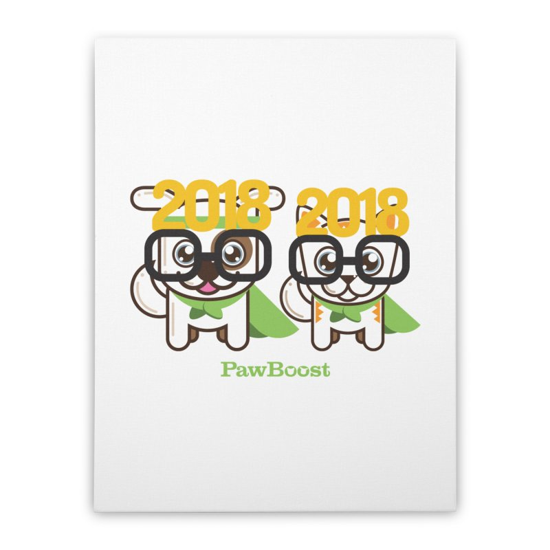 Hello 2018! Home Stretched Canvas by PawBoost's Shop