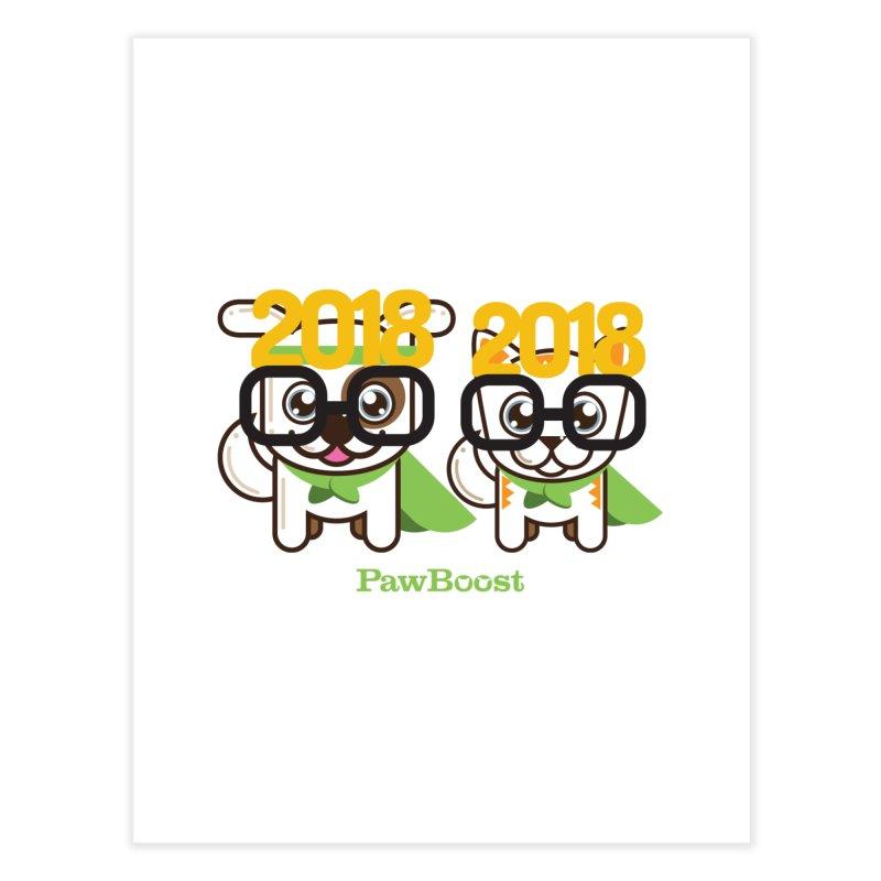 Hello 2018! Home Fine Art Print by PawBoost's Shop
