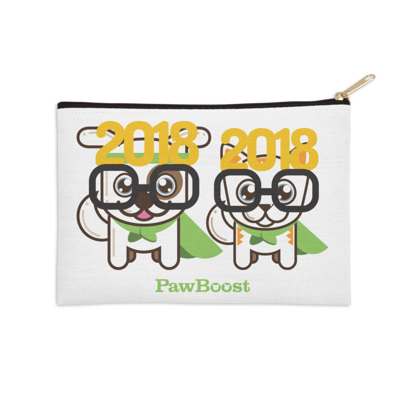 Hello 2018! Accessories Zip Pouch by PawBoost's Shop