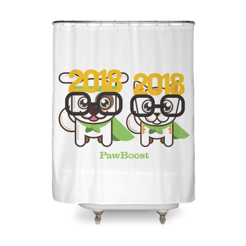 Hello 2018! Home Shower Curtain by PawBoost's Shop