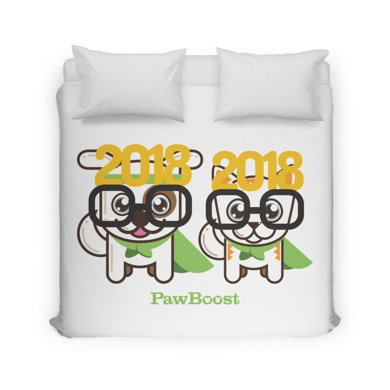 Hello 2018! Home Duvet by PawBoost's Shop