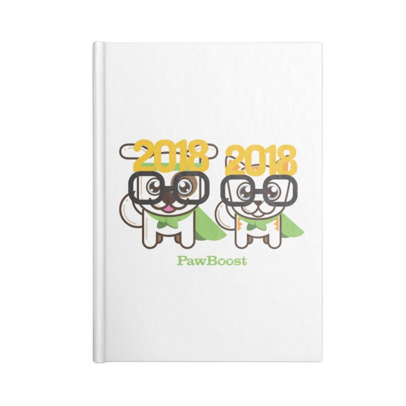 Hello 2018! Accessories Blank Journal Notebook by PawBoost's Shop