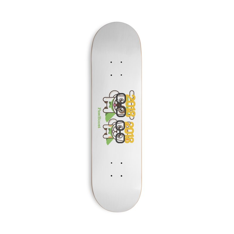 Hello 2018! Accessories Deck Only Skateboard by PawBoost's Shop