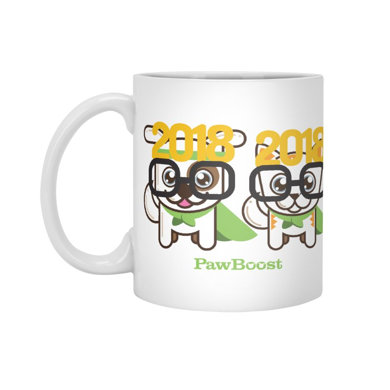 Hello 2018! Accessories Mug by PawBoost's Shop