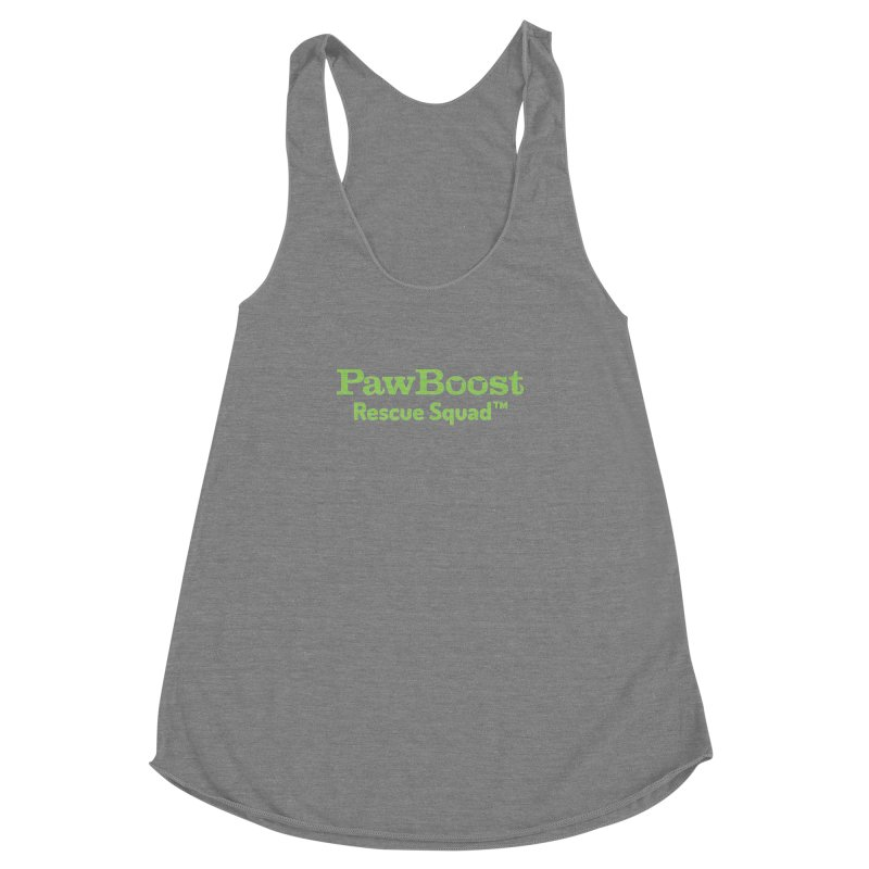 Rescue Squad Women's Racerback Triblend Tank by PawBoost's Shop