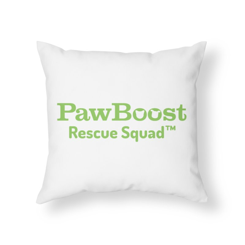 Rescue Squad Home Throw Pillow by PawBoost's Shop