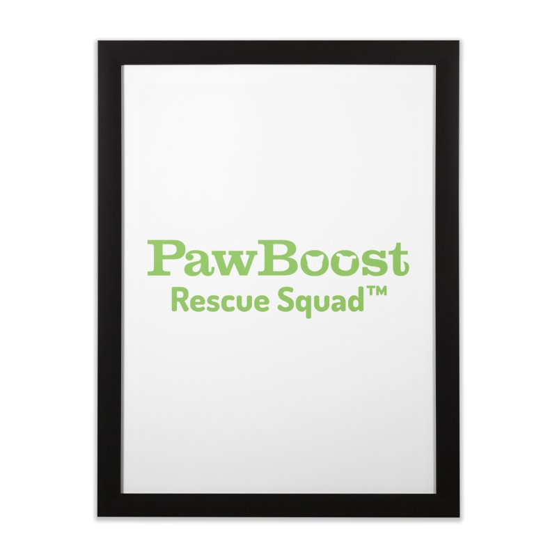 Rescue Squad Home Framed Fine Art Print by PawBoost's Shop